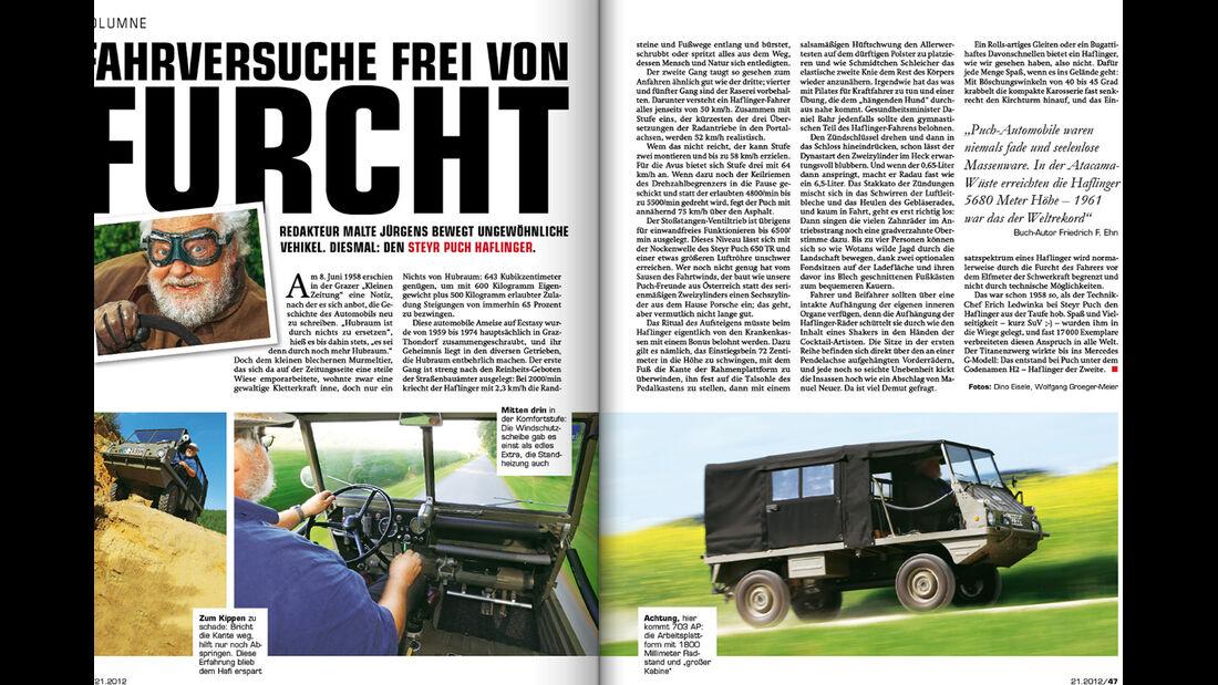 auto motor und sport - Heft 21/2012 Artikel Kolumne Malte Jürgens