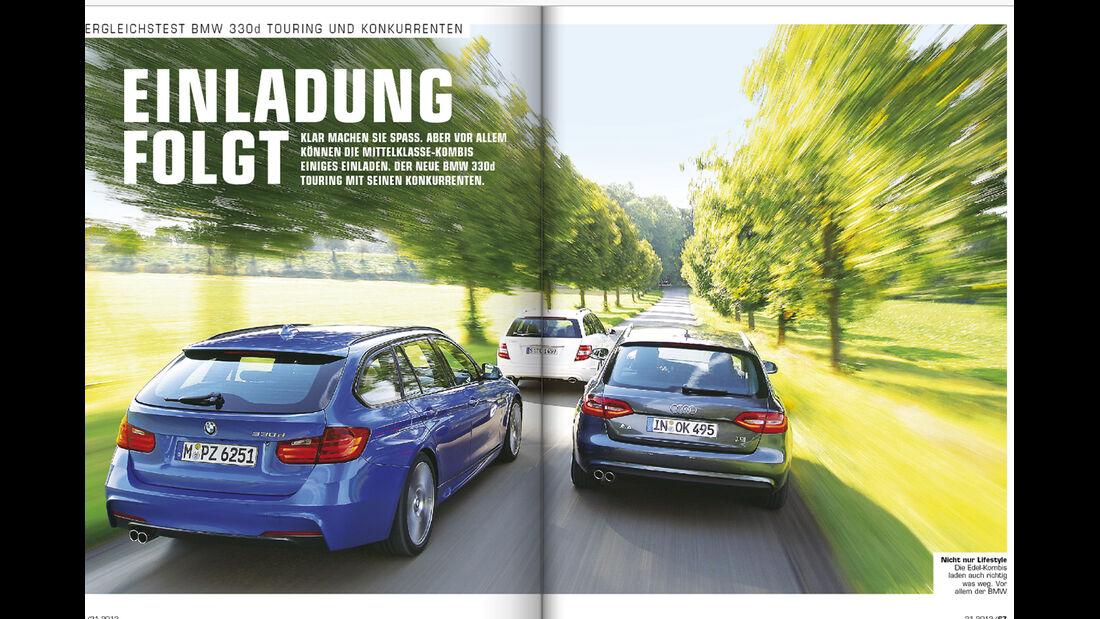 auto motor und sport - Heft 21/2012 Artikel VGL 3er