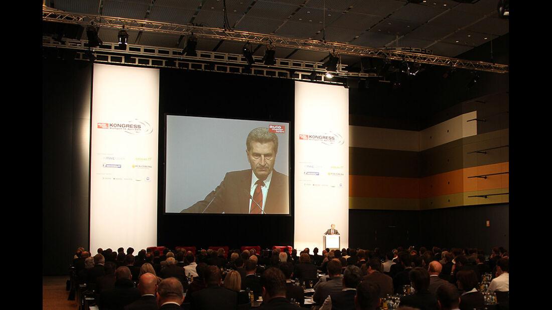 auto motor und sport-Kongress Günther Oettinger