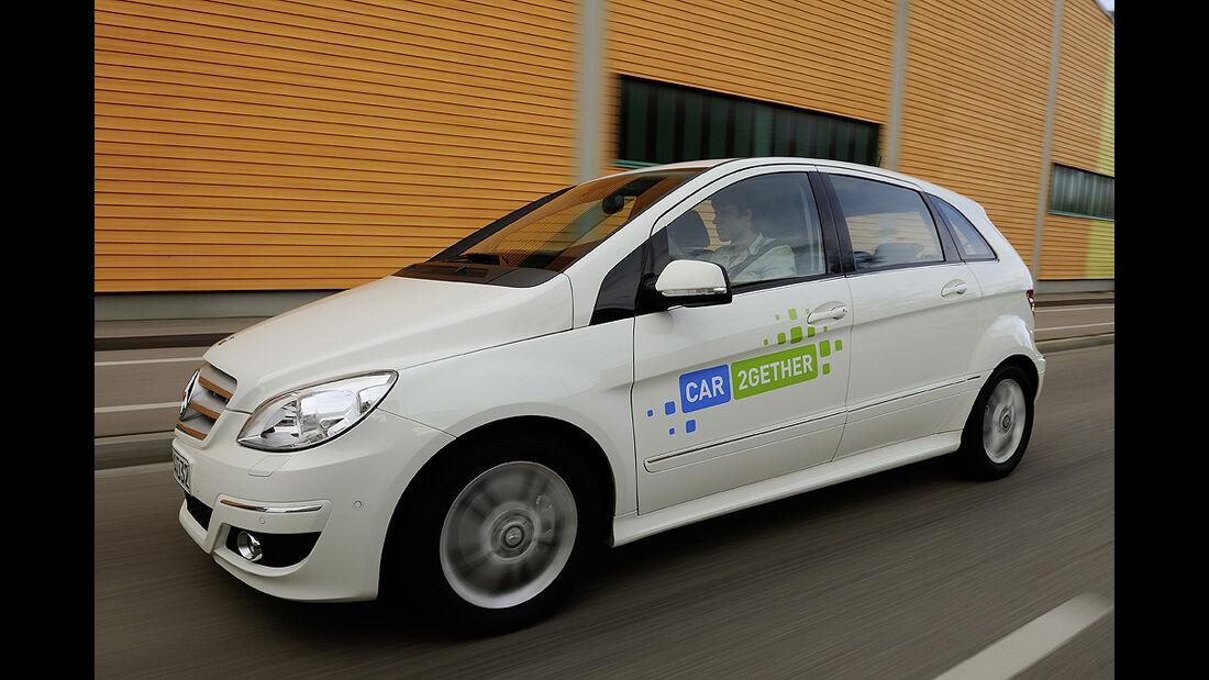 car2gether, Mitfahrgelegenheit, Daimler, Mercedes B-Klasse