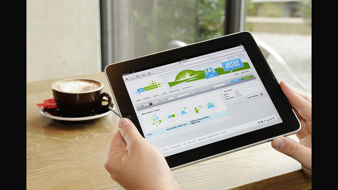 car2gether, Mitfahrgelegenheit, Daimler, iPad