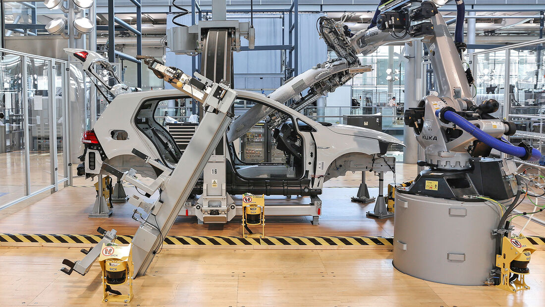 e-Golf Produktion Gläserne Manufaktur