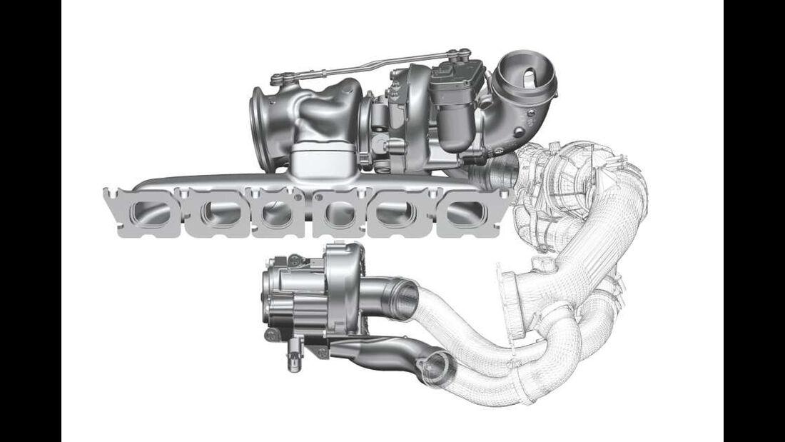 eBooster von BorgWarner am Mercedes M256 Reihen-Sechszylinder