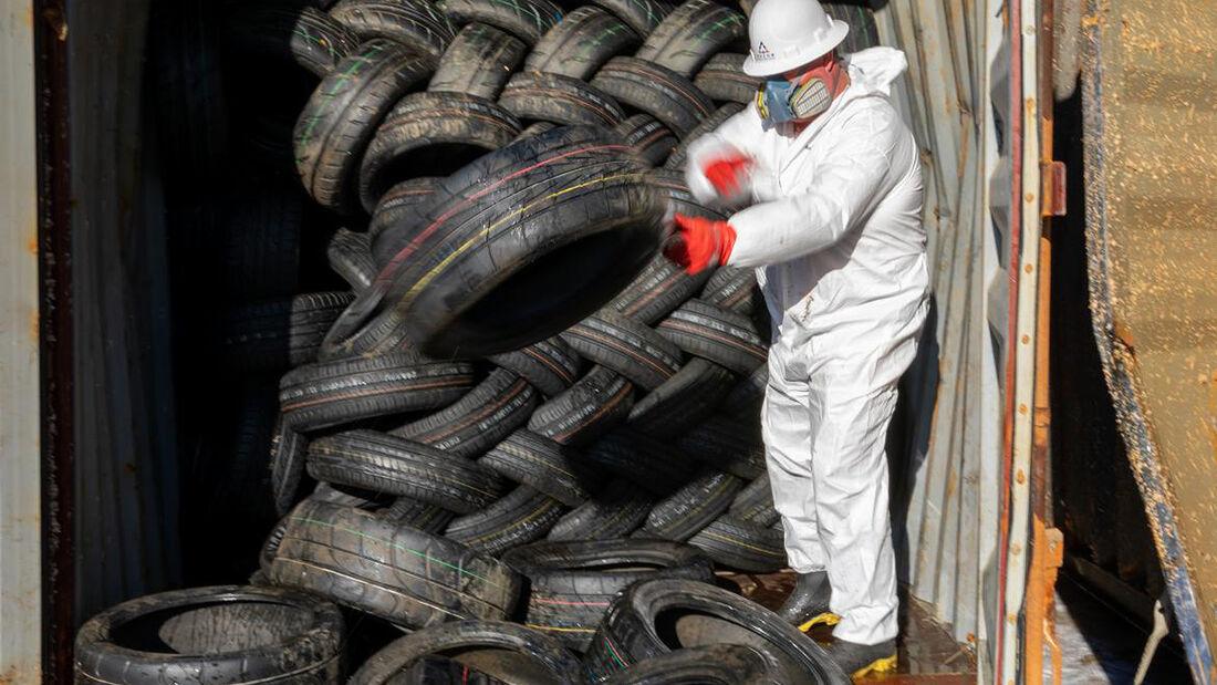 geborgene Reifen