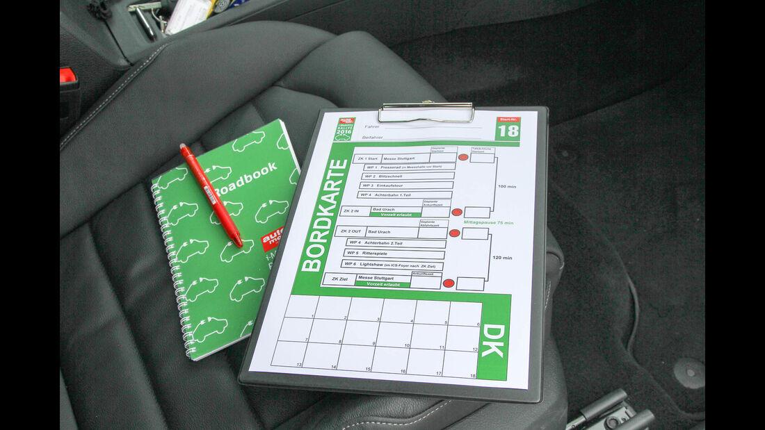 i-Mobility Rallye 2016, Bordkarte, Roadbook