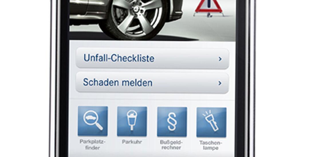 iPhone Apps für Autofahrer, Sternenhelfer, Mercedes