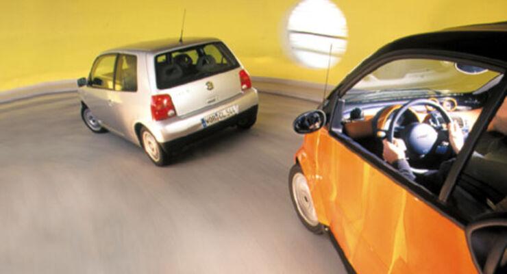 doppeltest smart cdi gegen vw lupo 1 2 3 l tdi auto motor und sport. Black Bedroom Furniture Sets. Home Design Ideas