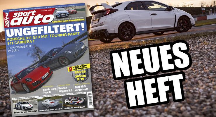 Heftvorschau: Das ist die neue Ausgabe 4/2018 von sport auto - auto ...