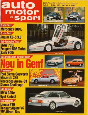 auto motor und sport auto motor und sport Heft 05/1986