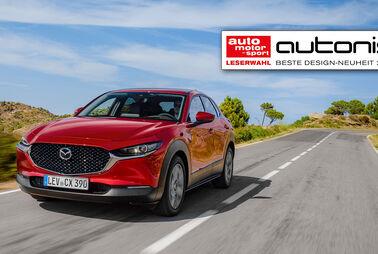 Design-Neuheit wählen und Mazda CX-30 gewinnen