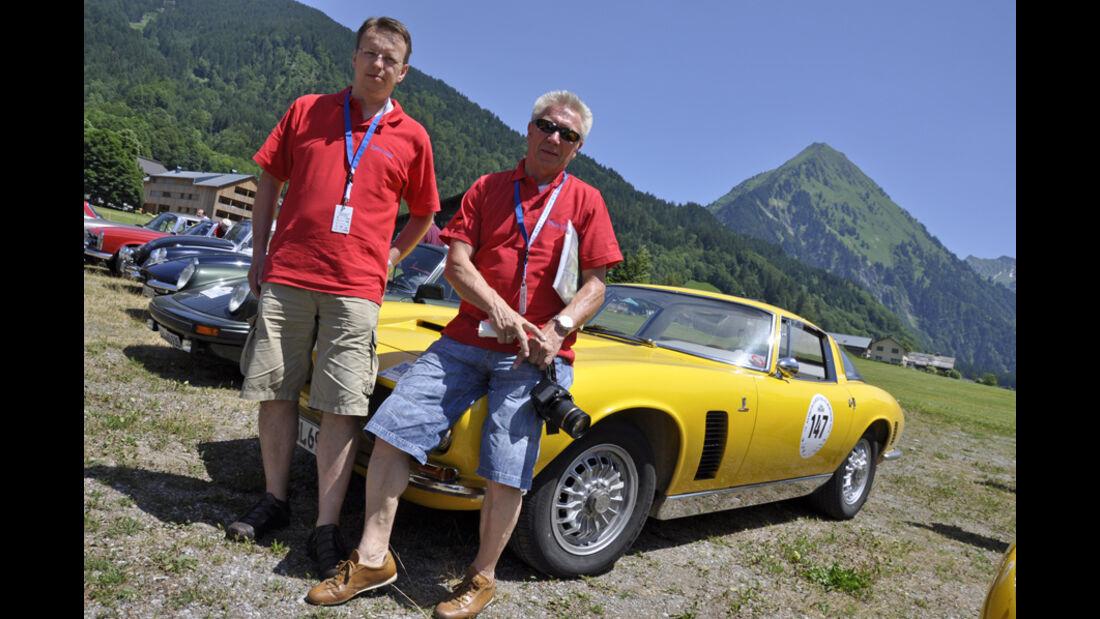 iso Grifo bei der Silvretta Classic 2010 - Rainer Reppert und Heinz Haskamp