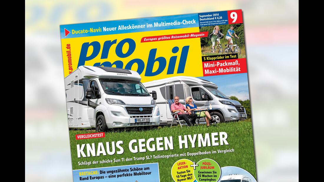 promobil Ausgabe 09/2014, Caravan Salon 2014