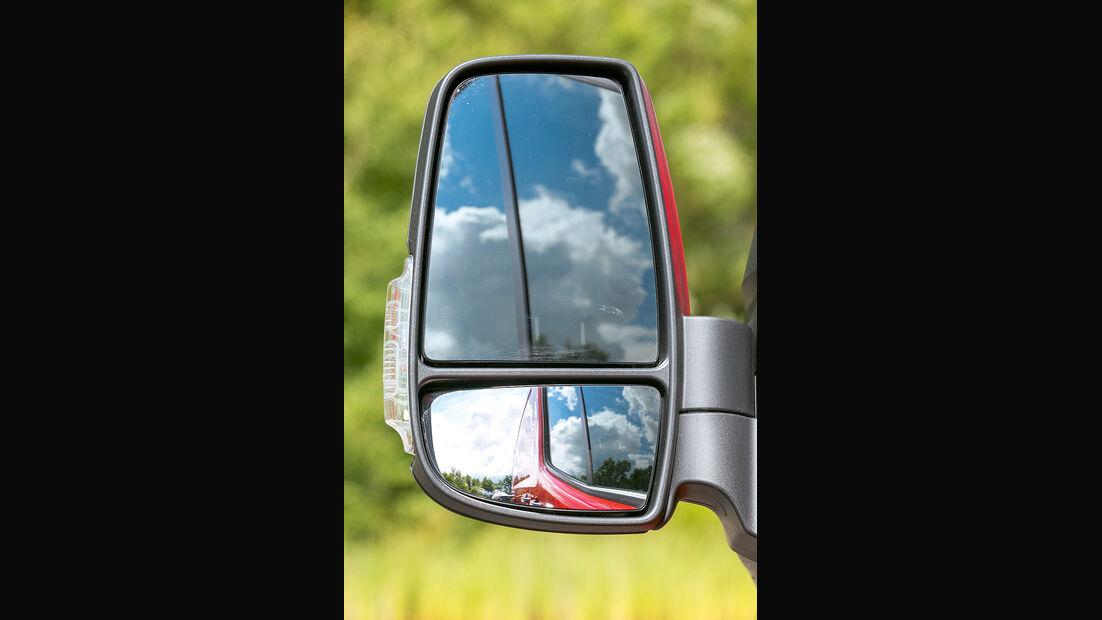 promobil Megatest 2014, Basisfahrzeuge, Ford Transit, Außenspiegel