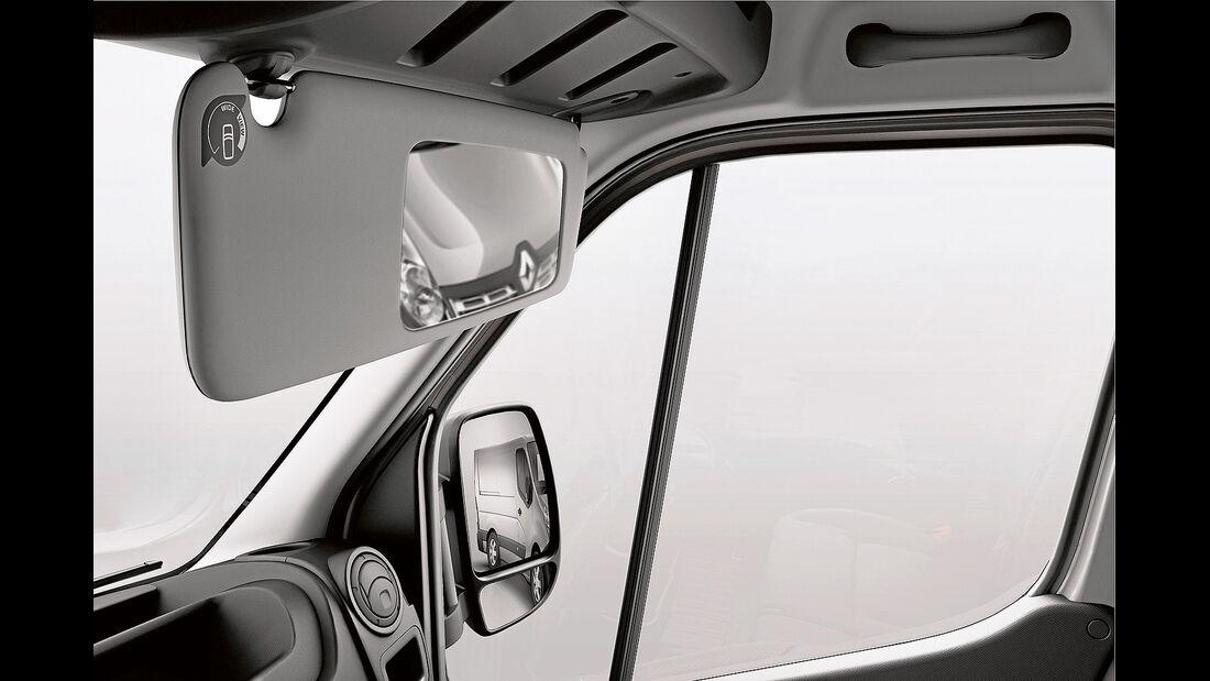 promobil Megatest 2014, Basisfahrzeuge, Renault Master, Totwinkelspiegel