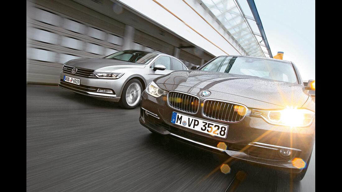spa0215, Heftvorschau, BMW 330d xDrive, VW Passat 2.0 TDI SCR, Vergleichstest