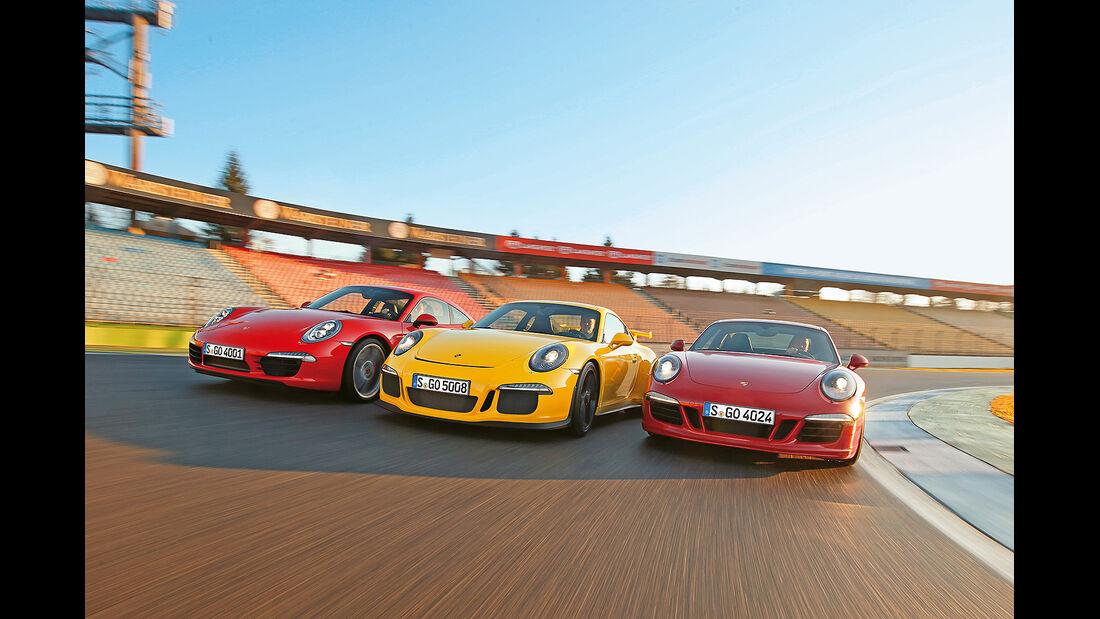 spa0215, Heftvorschau, Porsche 911 GTS Vergleichstest