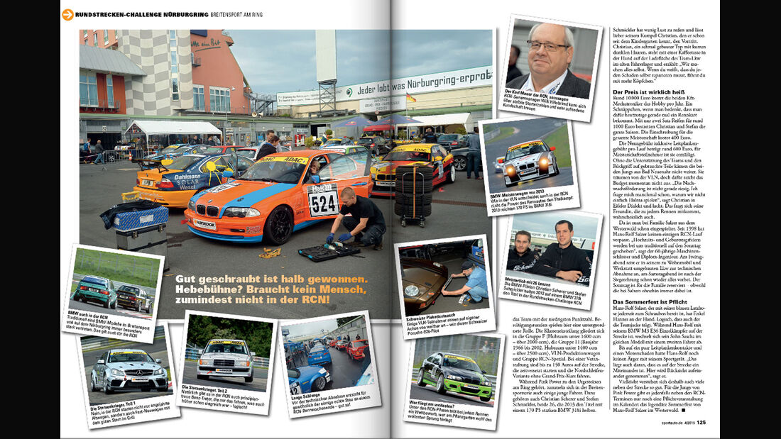sport auto 04/15, Heftvorschau, Rundstrecken Challenge Nürburgring