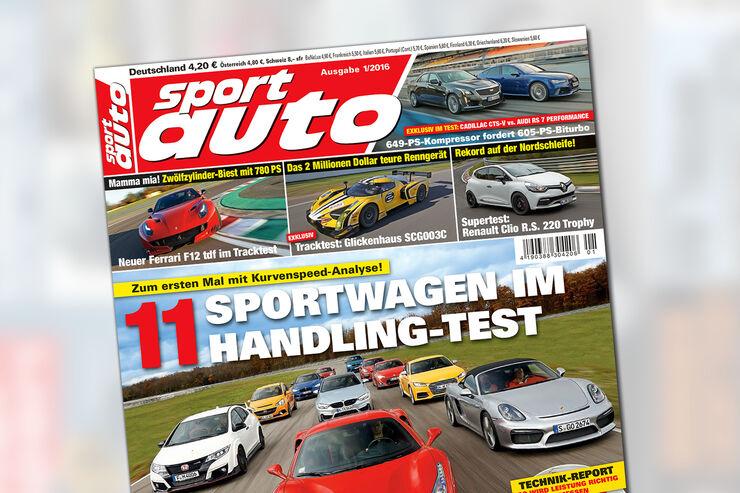 sport auto 1/2016 - Heftcover