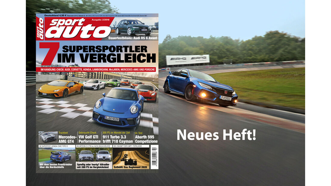 sport auto 2/2018 - Aufmacher - Heftvorschau