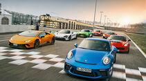 sport auto 2/2018 - Handling-Check - Supersportwagen