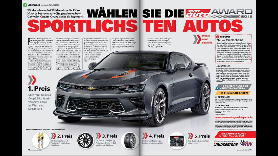 sport auto Award 2016