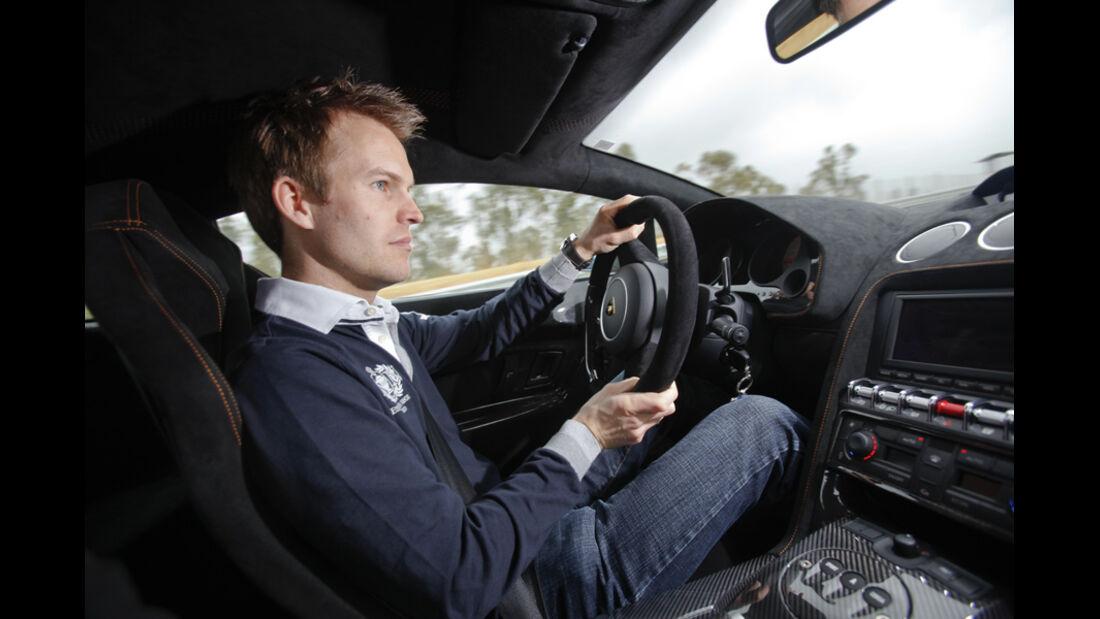 sport auto-Mitarbeiter Christian Gebhardt im Lamborghini Gallardo LP 570-4 Superleggera