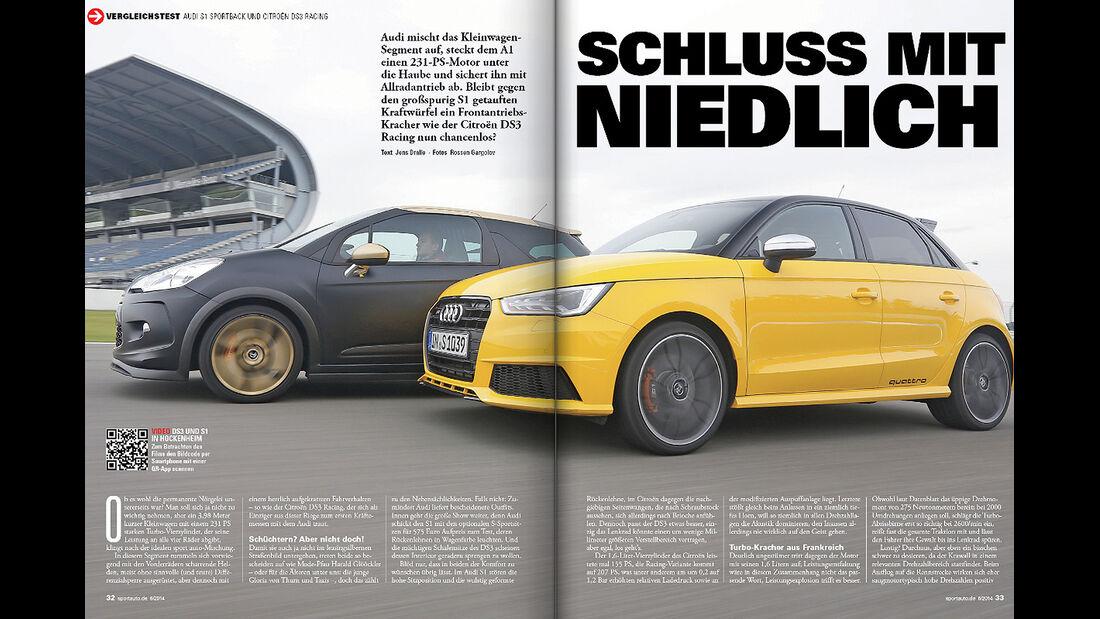 sport auto, Vergleichstest, Audi S1, Citroen DS3