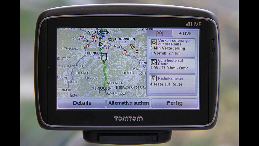 spritsparende Navigationsgeräte